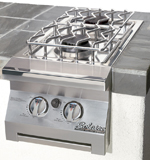 built in double side burner solaire