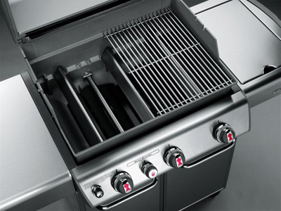 barbecue burners without briquette heat conduction