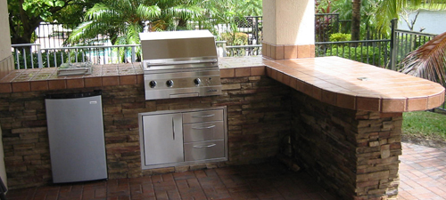 Outdoor kitchen grill island built in on site any design for Outdoor summer kitchen grills