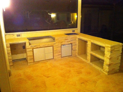Custom Grill Island And Bar With Storage With Stone And
