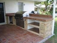 outdoor kitchen grill island design