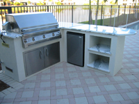 infrared gas grill outdoor kitchen grill island bar