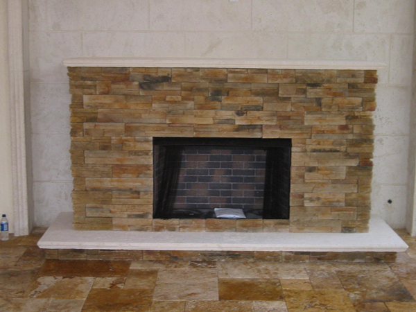 Custom Built Backyard Fireplace And Fire Pit For Gas And