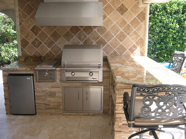 alfresco built in grill island with oci infrared sear zone