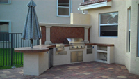 outdoor kitchen aog built in grill
