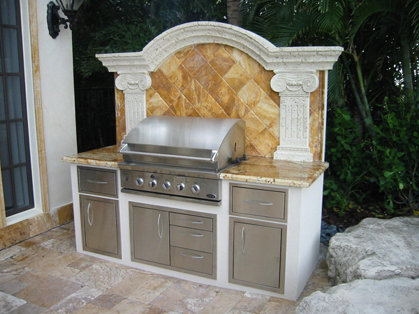 built in gas grill built in door accessories in custom outdoor kitchen