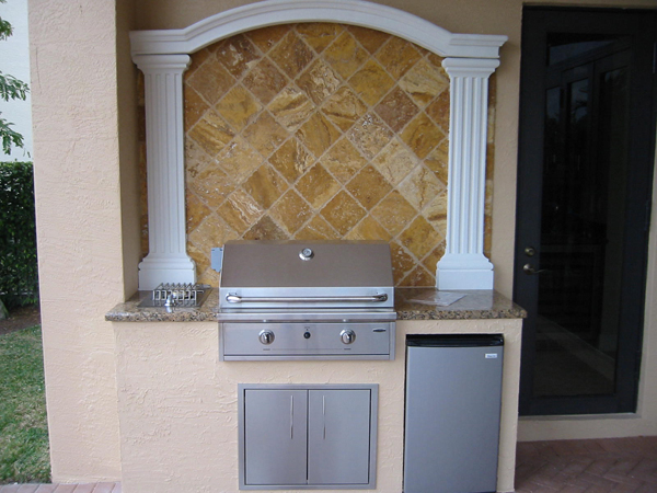 Capital Built In BBQ Grill In An Outdoor Kitchen