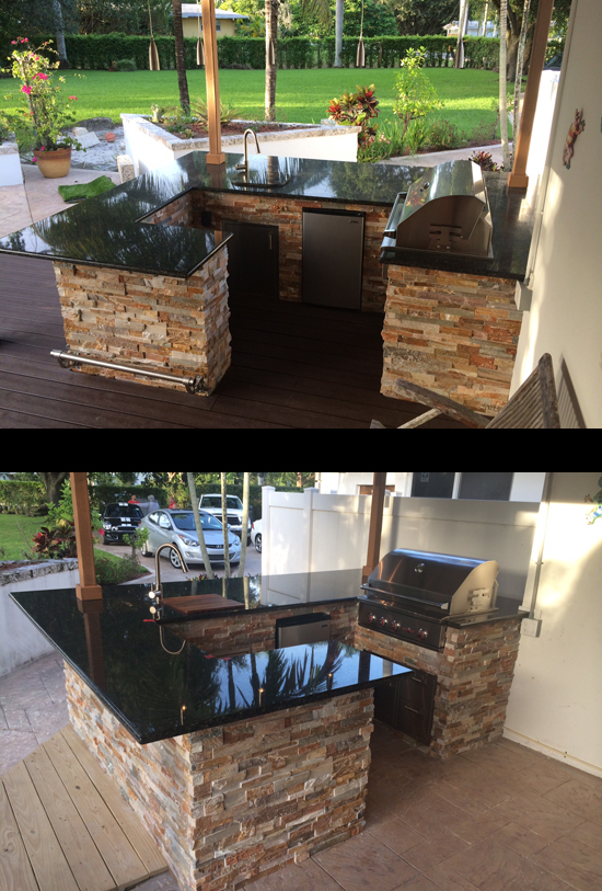 Superbe Custom Grill Island Wrap Around Into Outdoor Bar And Seating