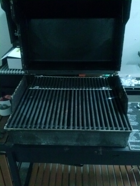 universal warming rack grate on a weber bbq grill