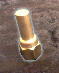 brass orifice, extended