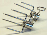 rotisserie heavy duty large forks for spit rod