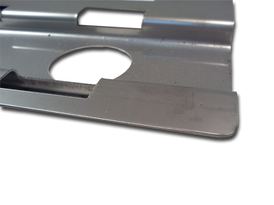close up detail of alfreso stainless steel briquette support tray