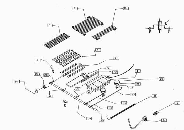 Capital BBQ Grill Replacement Parts Specification
