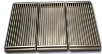 three section infrared cooking grates
