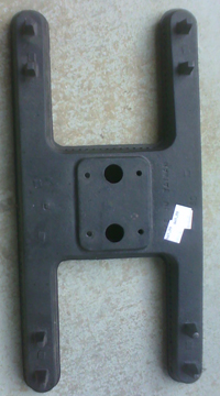 cast iron h burner with two venturi tube outlets