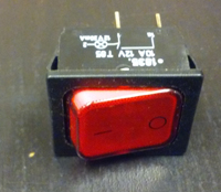 capital red toggle light switch