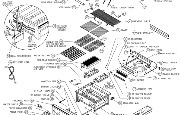 lynx pro 2007 gas grill schematic