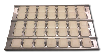 lynx stainless replacement briquette tray with briquettes and clips