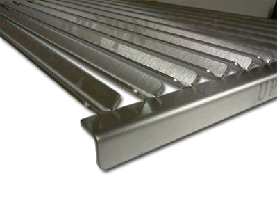 V channel grate for infrared grills