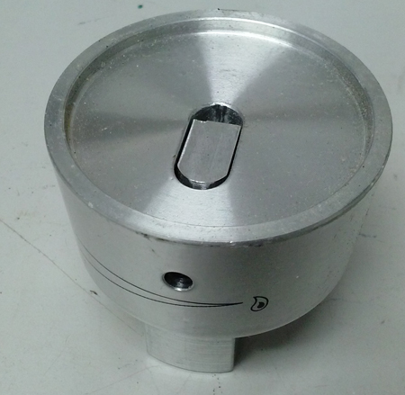stainless TEC control knob back