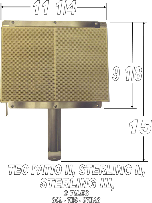 tec infrared grill parts