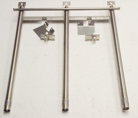 replacement burner set with crossover for tuscany barbecue grill