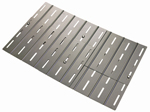 adjustable bbq grill replacement aluminized steel heat plate for briquettes